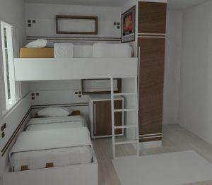 cama e quarto planejado